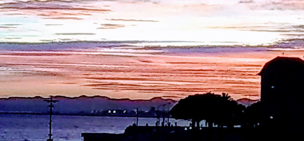 Sundown from my window in Nice